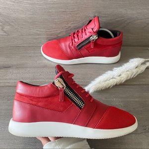 Giuseppe Zanotti Red Zip Up Sneakers